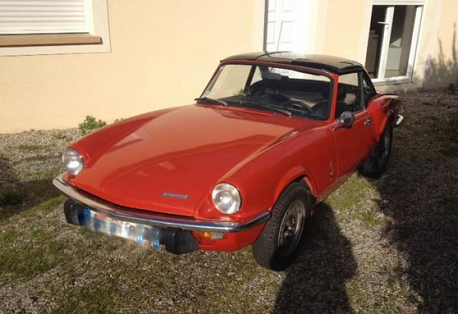 triumph spitfire mk4 cabriolet rouge occasion 8 500. Black Bedroom Furniture Sets. Home Design Ideas