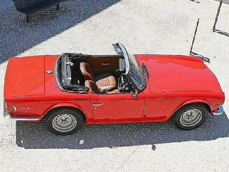triumph tr6 pi 124ch overdrive cabriolet rouge occasion 22 750 80 000 km vente de. Black Bedroom Furniture Sets. Home Design Ideas