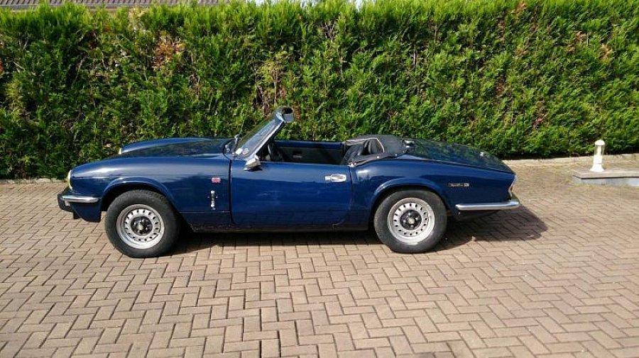 triumph spitfire mk4 cabriolet bleu fonc occasion 9 900 40 000 km vente de voiture d. Black Bedroom Furniture Sets. Home Design Ideas