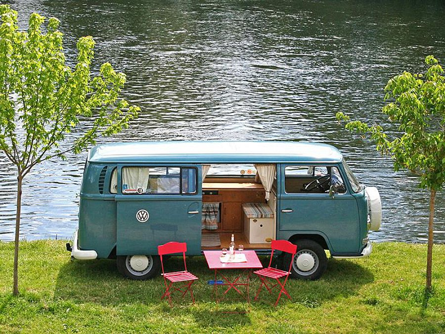 volkswagen combi t2 campervan monospace bleu occasion 22 950 59 000 km vente de voiture. Black Bedroom Furniture Sets. Home Design Ideas