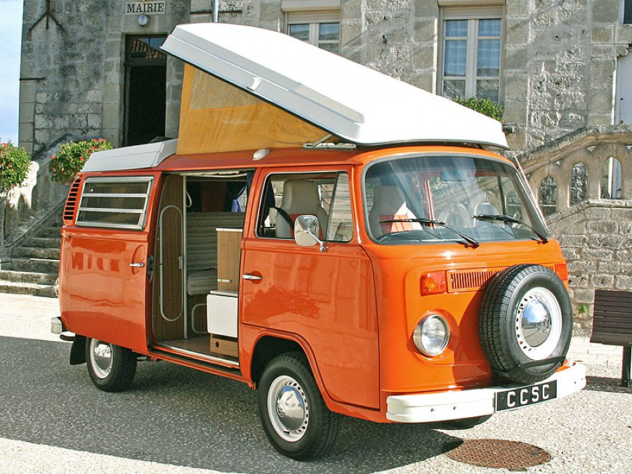 volkswagen combi t2 westfalia monospace orange occasion 28 950 60 000 km vente de. Black Bedroom Furniture Sets. Home Design Ideas